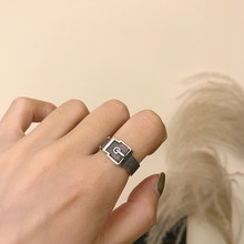 Silvology 925 Sterling Silver Fibelt Buckle Rings Vintage Weave Texture Open Korea Style for Women 2019 New Office Jewelry