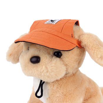 Pies kapelusze z otworami na uszy lato na płótnie z daszkiem czapka z daszkiem dla małych psów Puppy akcesoria zewnętrzne piesze wędrówki produkty dla zwierząt domowych 2018 nowy tanie i dobre opinie Drukuj 63 cotton 37 Terylene