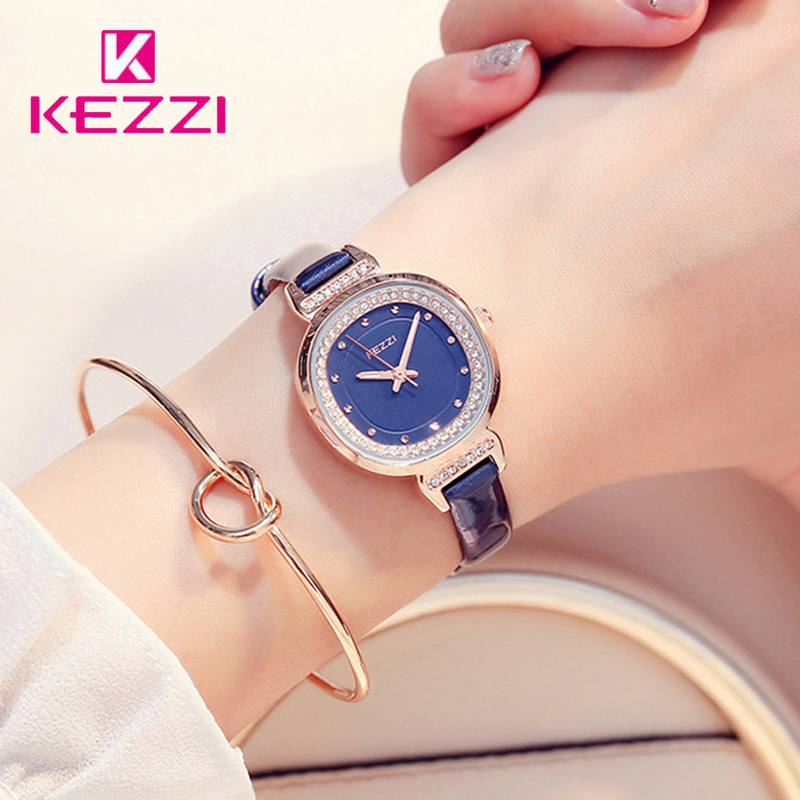 Kezzi Brand Classic Blue Leather