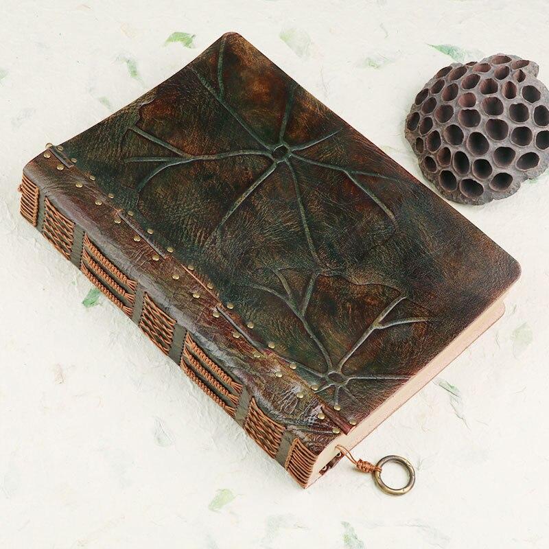 100% جلد طبيعي اليدوية a4 خمر الرجعية السفر مجلة يوميات المفكرة هدية عيد ميلاد BJB55-في الدفاتر من لوازم المكتب واللوازم المدرسية على  مجموعة 2