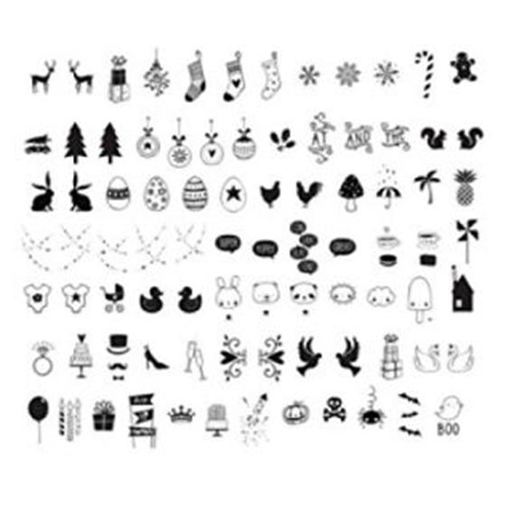 Празднование символы письмо Pack-для A4/a5 Кино Tic лайтбокс-Кино знак