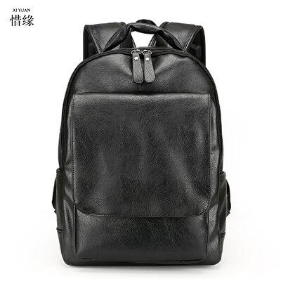 XIYUAN Fashion Men Genuine Leather Backpacks High Quality Brand Design Casual Men BACKPACK Travel Bags Vintage mochila hombre
