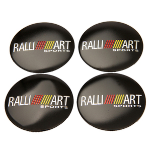 Image 1 - 56.5mm ralliart alumínio roda centro hub tampa emblema adesivo para mitsubishi asx lancer pajero outlander l200 evo eclipse galant