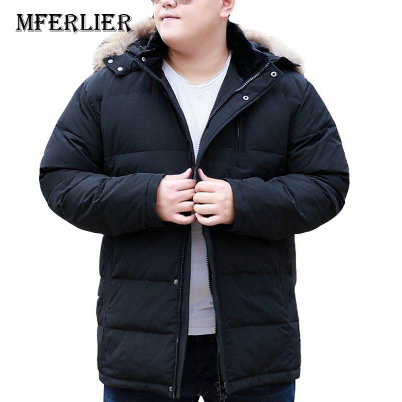 MFERLIER Autumn Winter Down Jackets Men 5XL 6XL 7XL 8XL 9XL 10XL Bust 170cm Plus Size For Cold Weather In Winter