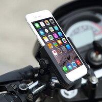 ILM Motorcycle Phone Mount Premium Aluminum Universal Bike Handlebar Holder Motorcross Phone Rack Holds Phones Up