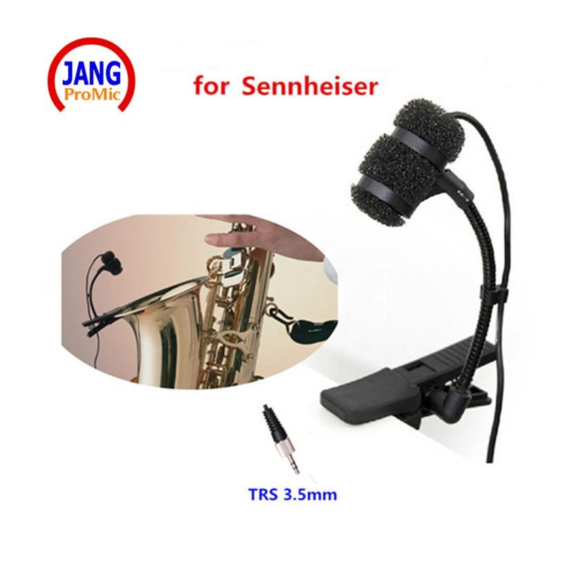 Professional Instrument Saxophone Microphone Condenser Clip Microfone for Sennheiser Wireless System TRS 3.5mm Mikrofon цена 2017
