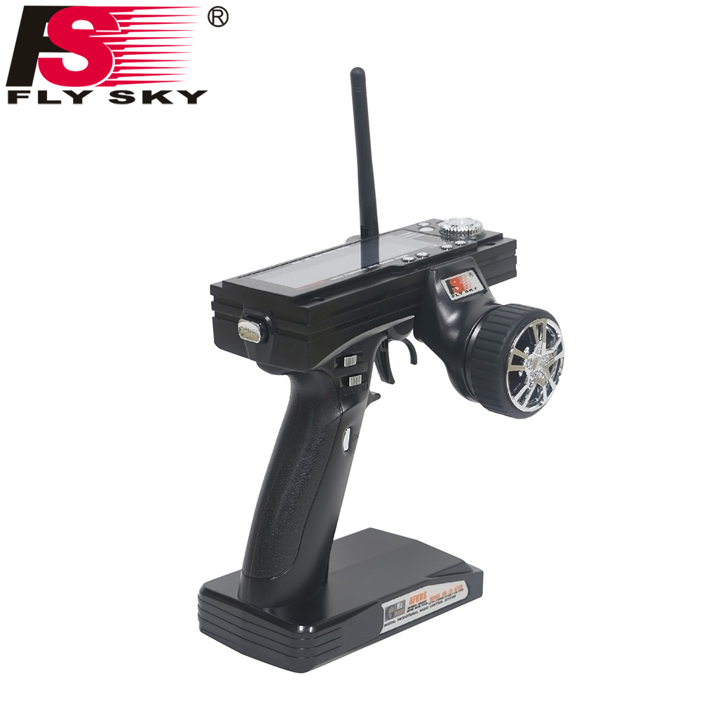 Fly Sky FS-GT3B 3CH Gun RC System Transmitter 2.4G Radio Control with FS-GR3E Receiver For RC Car Boat with LED Screen 1pc radiolink rc3s 4ch 2 4g digital radio control system gun transmitter r4eh receiver lcd programable for rc car boat wholesale