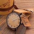 Bobo bird e19 vendimia de las mujeres del diseño de marca de lujo de bambú de madera relojes Señoras Reloj Con Reloj de Cuarzo Del Regalo de Cuero Real caja