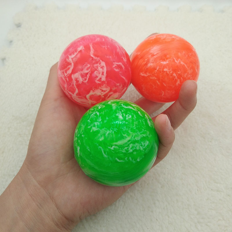 1pc Toy ball Clouds Colorful Bouncy Ball Game child elastic rubber ball Children kids of pinball bouncy Outdoor toys 5 5cm in Toy Balls from Toys Hobbies