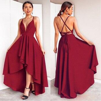 5c4a98f70 Vestido de graduacion rojo largo - Vestidos formales