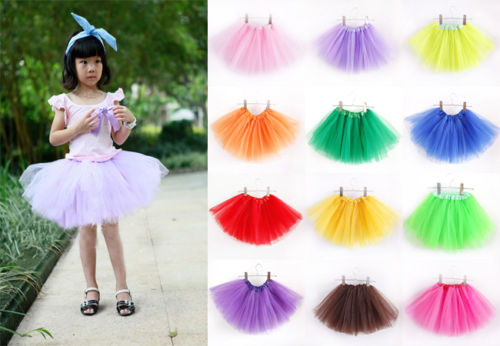 2016 Baby Girls Kids Toddler Tutus Fancy Up Costume Party Colorful One size Mini Skirts