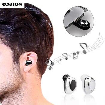 Mini kablosuz Bluetooth kulaklık görünmez kulak Bluetooth kulaklık mini Bluetooth kulaklık mikrofon ile Akülü kulaklık