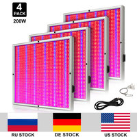 4pcs/lot 2009 LEDs Growing Lamp AC85 265V Red Blue 200W Indoor Hydroponics Plant Grow Light Yield Higher Quality Flowers
