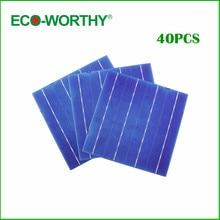 Hot Sale 40pcs Solar Cell 6″x6″A Grade 3 Bus Bars 4.3W Each Cell DIY Solar Panel 156x156mm Polycrystalline Solar Cells