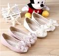 Pérola doce bowtie sapatos calçados infantis meninas novas chegada sandálias princesa das meninas solteiras sapatos crianças sapatos frete grátis