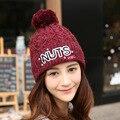 Venta caliente 2016 Nuevas Mujeres Calientes del invierno sombrero hecho punto sombrero hecho punto de las mujeres Al Por Mayor Envío Gratuito