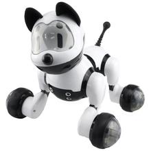 Smart Dance Robot Dog Electronic Pet Toys With Music Light Voice Control Free Mode Sing Dance Smart Dog Robot lz111 dynamic light music aerobatics robot