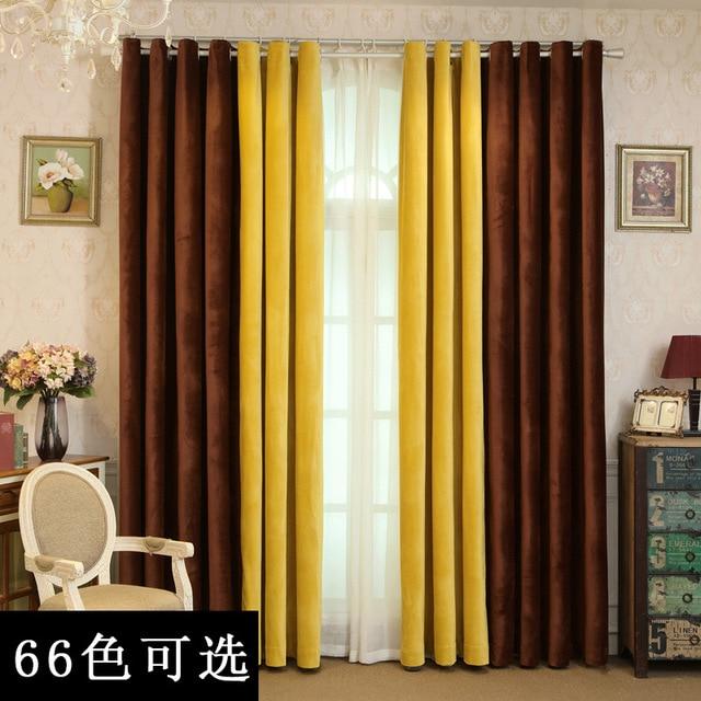 Curtains For Living Dining Room Bedroom Black Silk Holland Velvet Curtain Plain Thickened