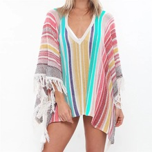 купить Women Sexy Hollow Out Crochet Beach Tunic Dress Swimsuit Cover Up по цене 1165.2 рублей