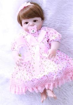 dollmai 22 inch 55cm Full Silicone Reborn Baby Dolls Alive Lifelike Real Dolls Realistic Bebe Reborn Babies Kid Girls Toys Gift