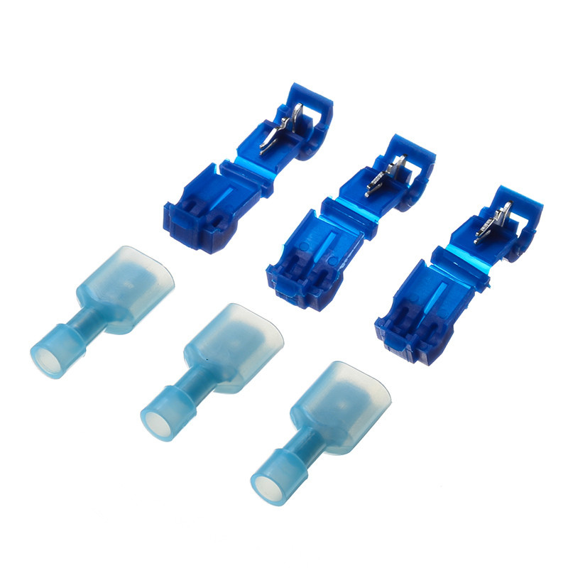 10 Pairs T-Taps /& Male Insulated Quick Splice Lock Wire Connector Terminals