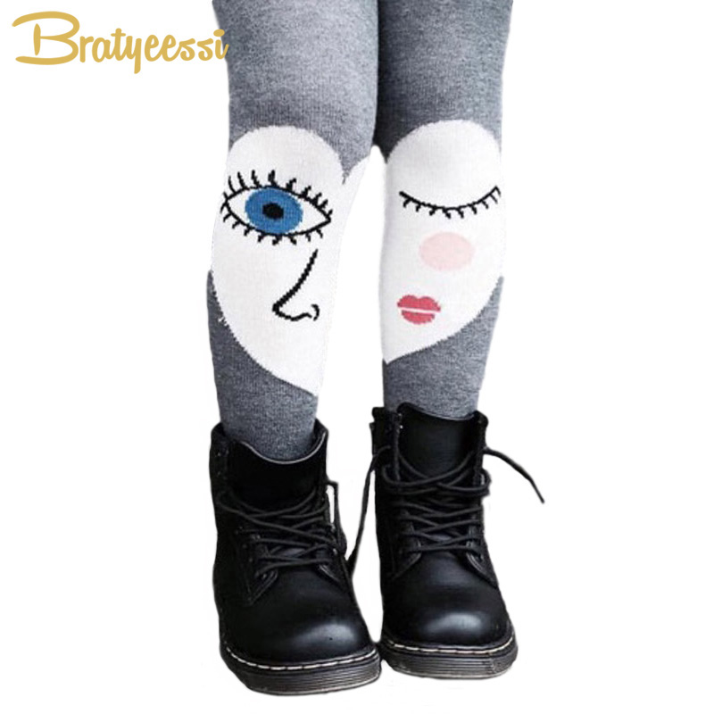 New Gray Children Tights for Girls Cotton Heart Eyes Kids Pantyhose All Match Sweet Baby Tights for 1-7 Years sweet years sy 6282l 07