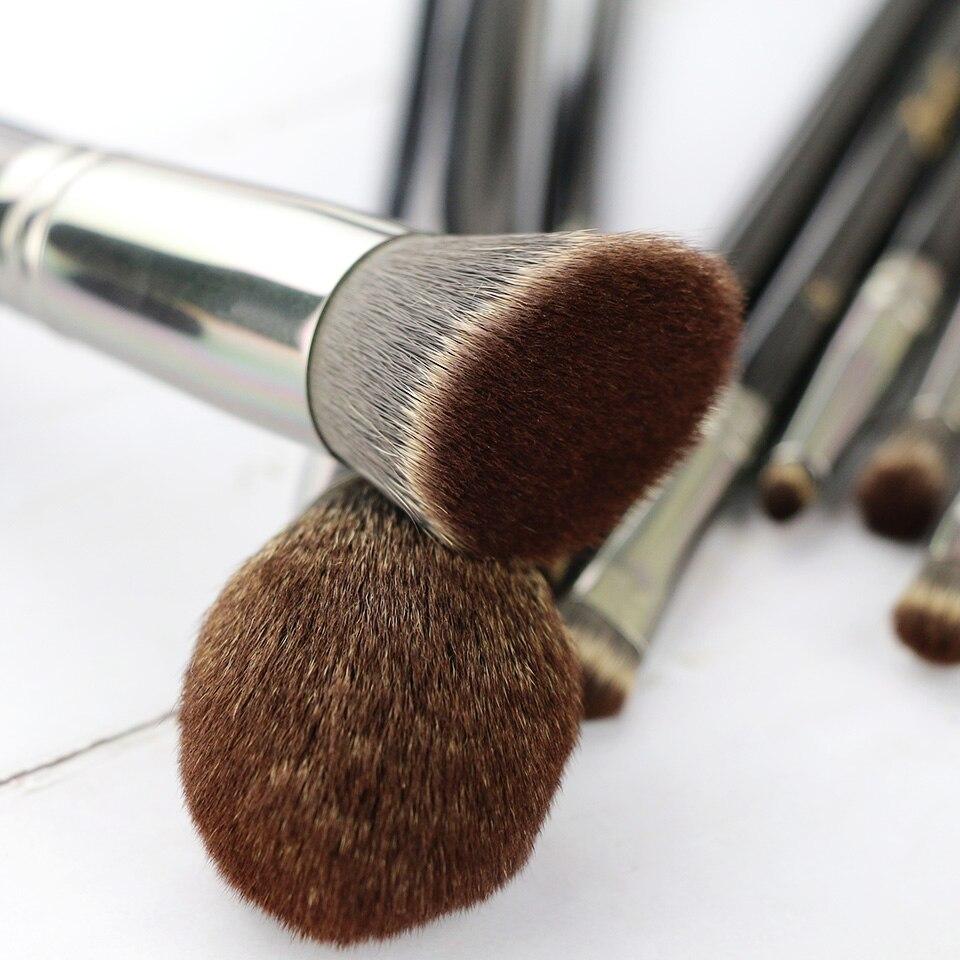 New Arrival Zoeva 8pcs Makeup Brushes Professional Black Beauty Dark Brown 8 Piece Bursh Set Bag Luxury Brand Make Up Tools Kit Powder Blend In Eye Shadow Applicator From