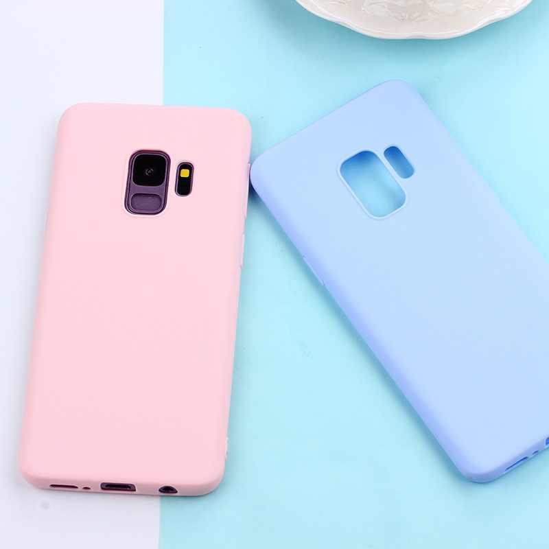 Matte Caso TPU Doces Para Samsung Galaxy S10 Plus S10E S8 S9 Nota 9 8 5 A7 2018 S6 S7 borda J3 J5 J7 2016 2017 J4 + J6 UE A6 A8