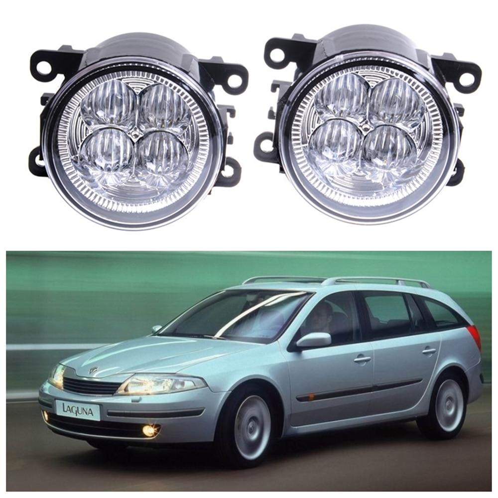 For Renault Laguna 2 Hatchback BG0 BG1_  2001-2015 10W High power Lens fog lights Car styling Fog Lights 1set