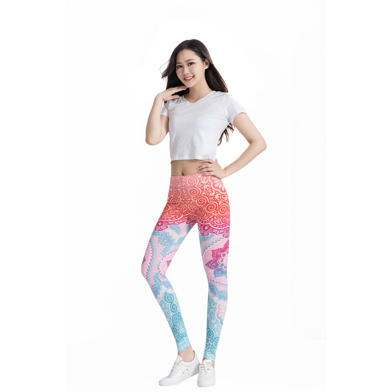 Mesh Pattern Print Leggings fitness Leggings For Women Sporting Workout Leggins Elastic Slim Black White Pants leggings women