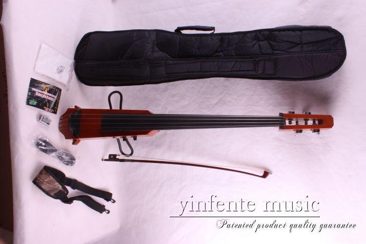 orange  Electric Cello 4/4 hand carved good ebony agleam Silent Cello Solid new 4 4 electric cello powerful sound ebony parts end pin tailpiece peg 1468