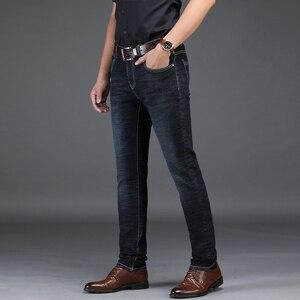 Image 5 - NIGRITY 2019 Nuovi Jeans Da Uomo Intelligente Casual Jeans Regular Fit Straight Leg Elasticità Dei Jeans 8932 Lungo Tratto Pantaloni Big Size 42