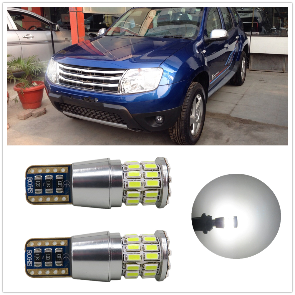 WLJH 2x <font><b>LED</b></font> Canbus T10 W5W Car Light Clearance Light Parking Bulb For <font><b>Renault</b></font> duster megane 2 logan Koleos laguna 2 <font><b>captur</b></font> clio image