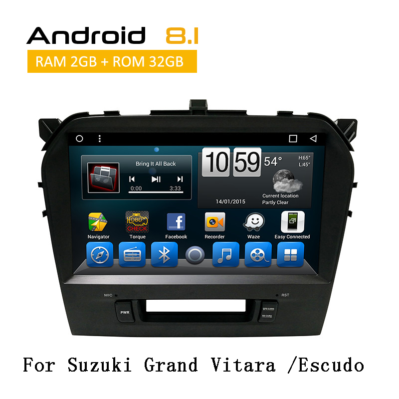 2 din écran tactile voiture stéréo Radio Android Octa système de base pour Suzuki Grand Vitara/Escudo 2015 GPS Glonass Navigation YouTube
