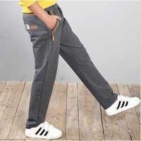 Marca adolescente abbigliamento primavera ragazzo pantaloni della tuta grandi pantaloni del ragazzo 8-16 anni di formato dei bambini delle ragazze per il tempo libero grigio pantaloni unisex stile