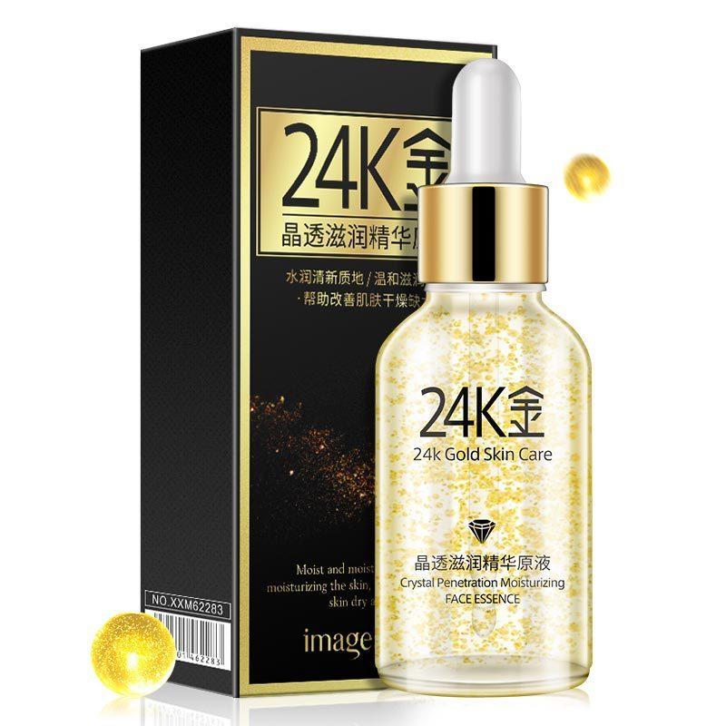 Bilder Reine 24 K Gold Essenz Tag Creme Anti Falten Gesicht Pflege Flüssigkeit Serum Anti Aging Kollagen Bleaching Feuchtigkeitsspendende Haut pflege