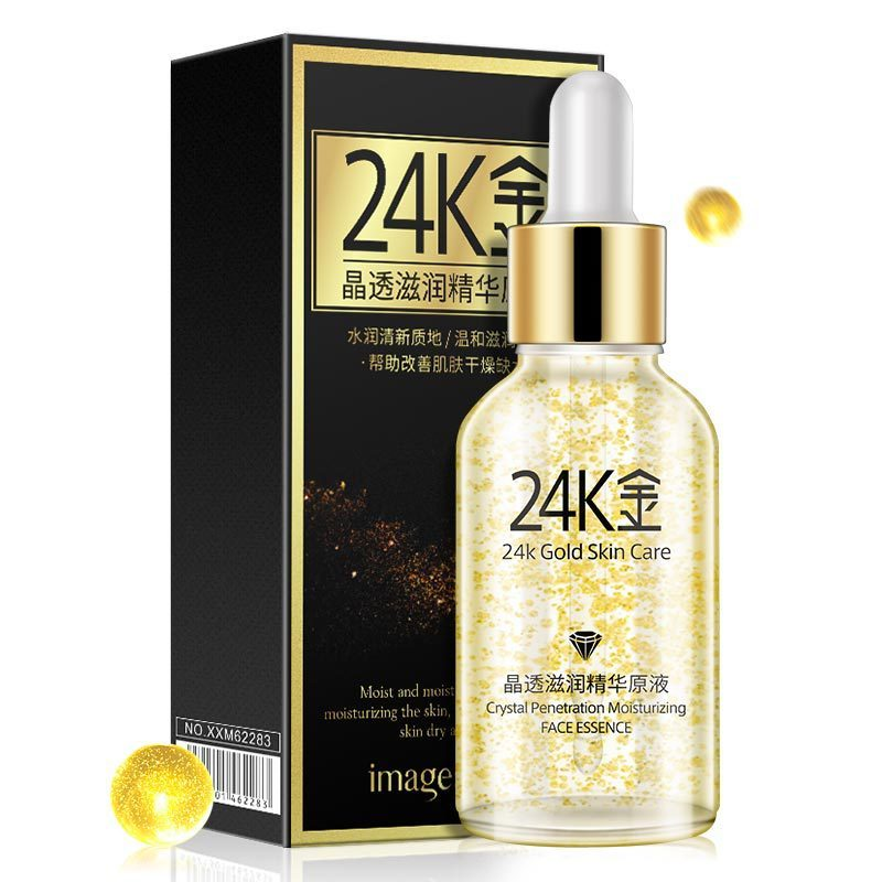лучшая цена Images Pure 24K Gold Essence Day Cream Anti Wrinkle Face Care Liquid Serum Anti Aging Collagen Whitening Moisturizing Skin Care