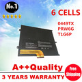 Nova bateria do portátil 0NTG4J 0449TX 0PRW6G T1G6P PRW6G para DELL Vostro V13 V13Z V130 V1300