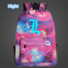 Death Note Lumious Bags For Teenagers Oxford Backpacks (13 Colors)