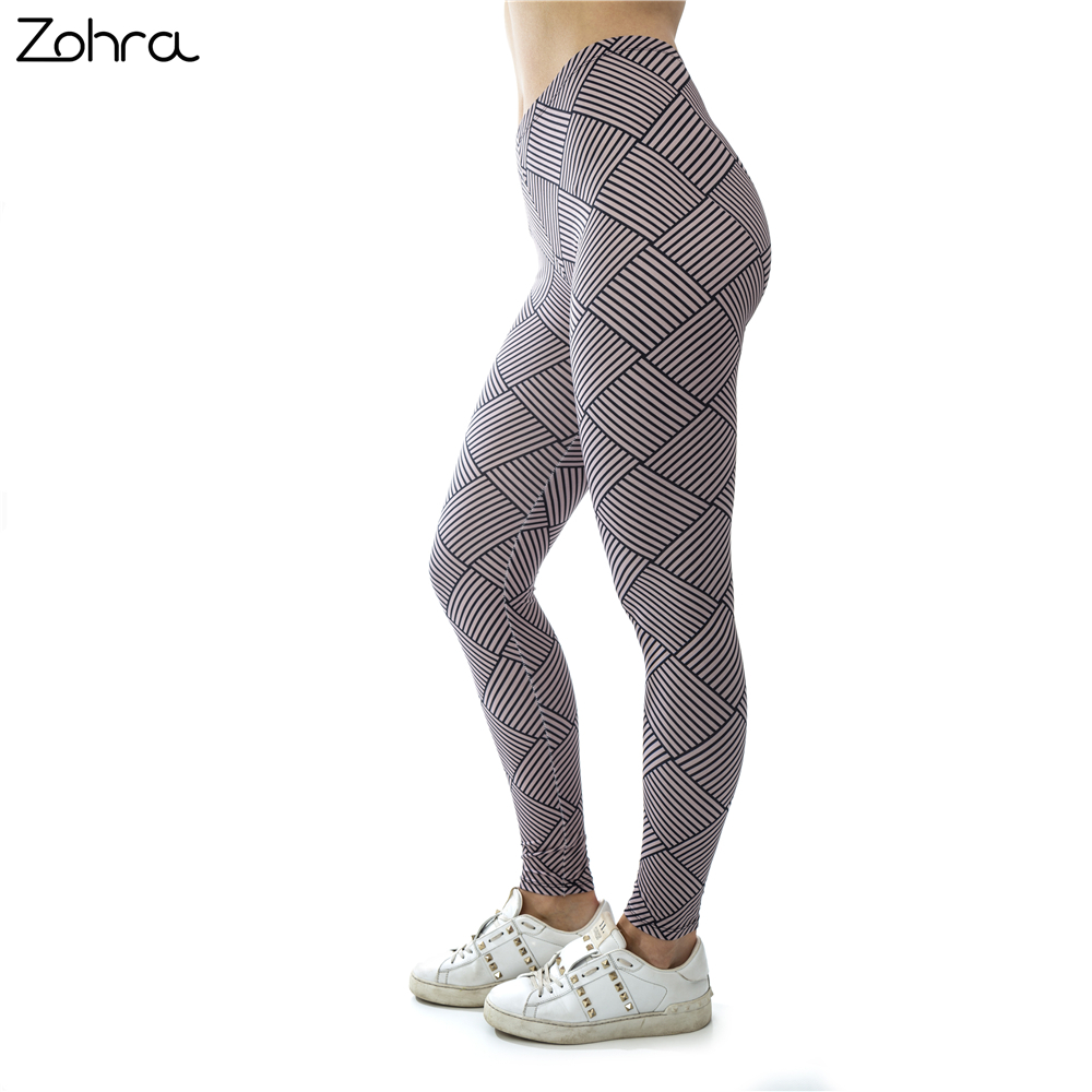 Zohra 2018 New Arrivals Charming Classic Printing Sexy Elastic Fitness   Leggings   Workout Bottoms Stretch Slim Fashion Pants