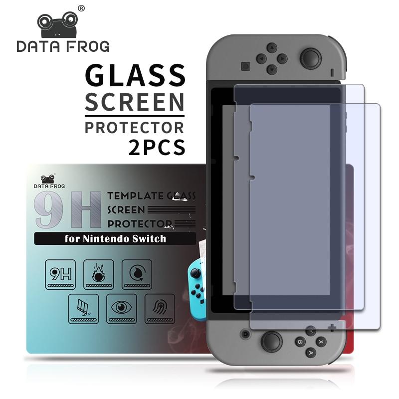 2 Pack 9 H Protector de pantalla de vidrio templado para Nintendo Switch cubierta de película protectora para Nintend Switch Lite NS Accesorios 2019