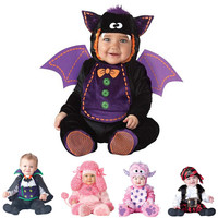 2018 Carnival Halloween Outfits Baby Boys Girls Costume Animal Cosplay Rompers Jumpsuit Toddlers Infant Clothes Bat/Pirate/Puppy