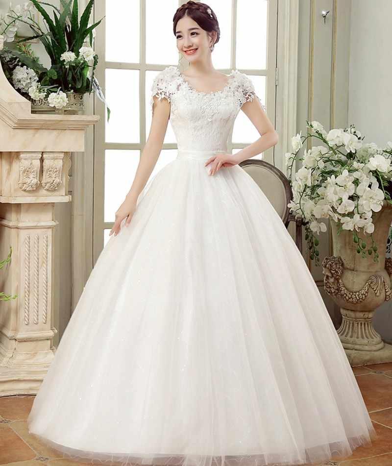 7fe1e4cdb 2019 летние кружевные платья длиной до пола для свадьбы vestido Casamento  принцесса банкетвечерние Свадебные платья robe