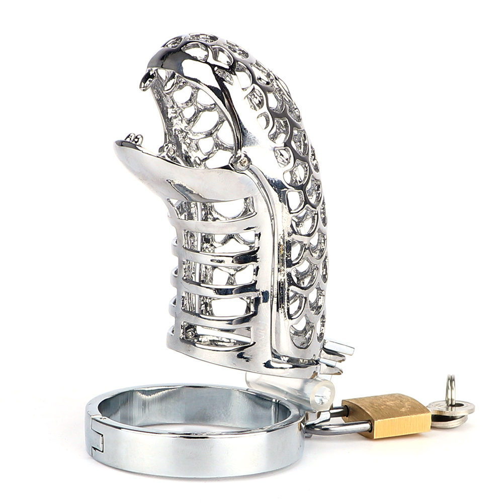IKOKY Snake Totem Male Chastity Device Cock Rings Chastity Lock Belt Penis Rings Various Sizes Sex Toys for Men Male Cock Cage 4