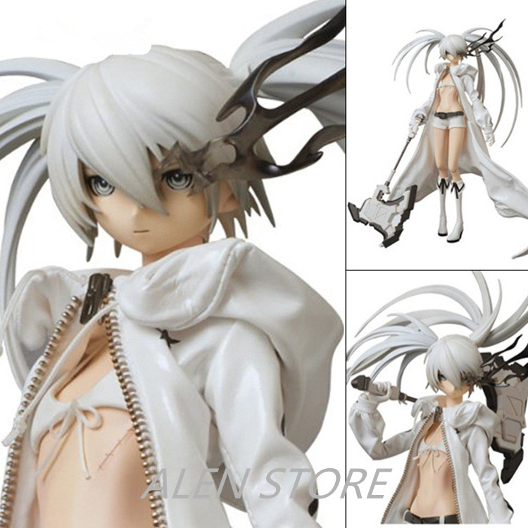 Sexy 12 Anime Black Rock Shooter Miku Black Ver. White Ver. Boxed 30cm PVC Model Figure Doll Toy katia g повседневные брюки