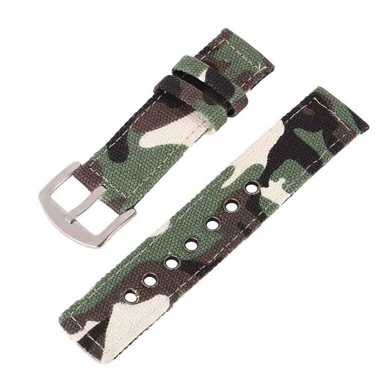 18mm 20mm 22mm 24mm Canvas Watch Band Strap Fashion Men Women Watchbands Sport Watches Belt Accessories цена