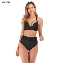OCQBI 2019 Bikini Sets Women Swimsuit suit for  High Waist Halter Bathing Suit Sex Swimwear Push Up Biquini