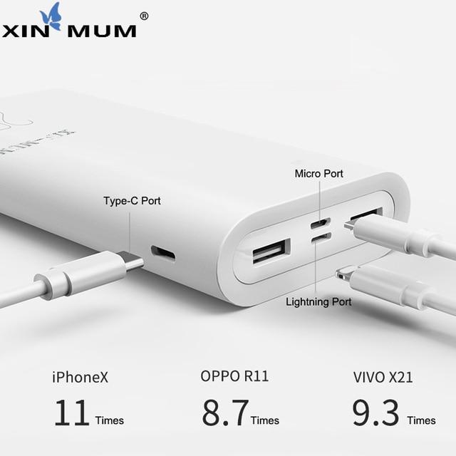 XIN-MUM 20000mAh Power Bank Portable Battery USB Dual Quick Charge Mobile Powerbank for iPhone Samsung Xiaomi LG Sony Huawei