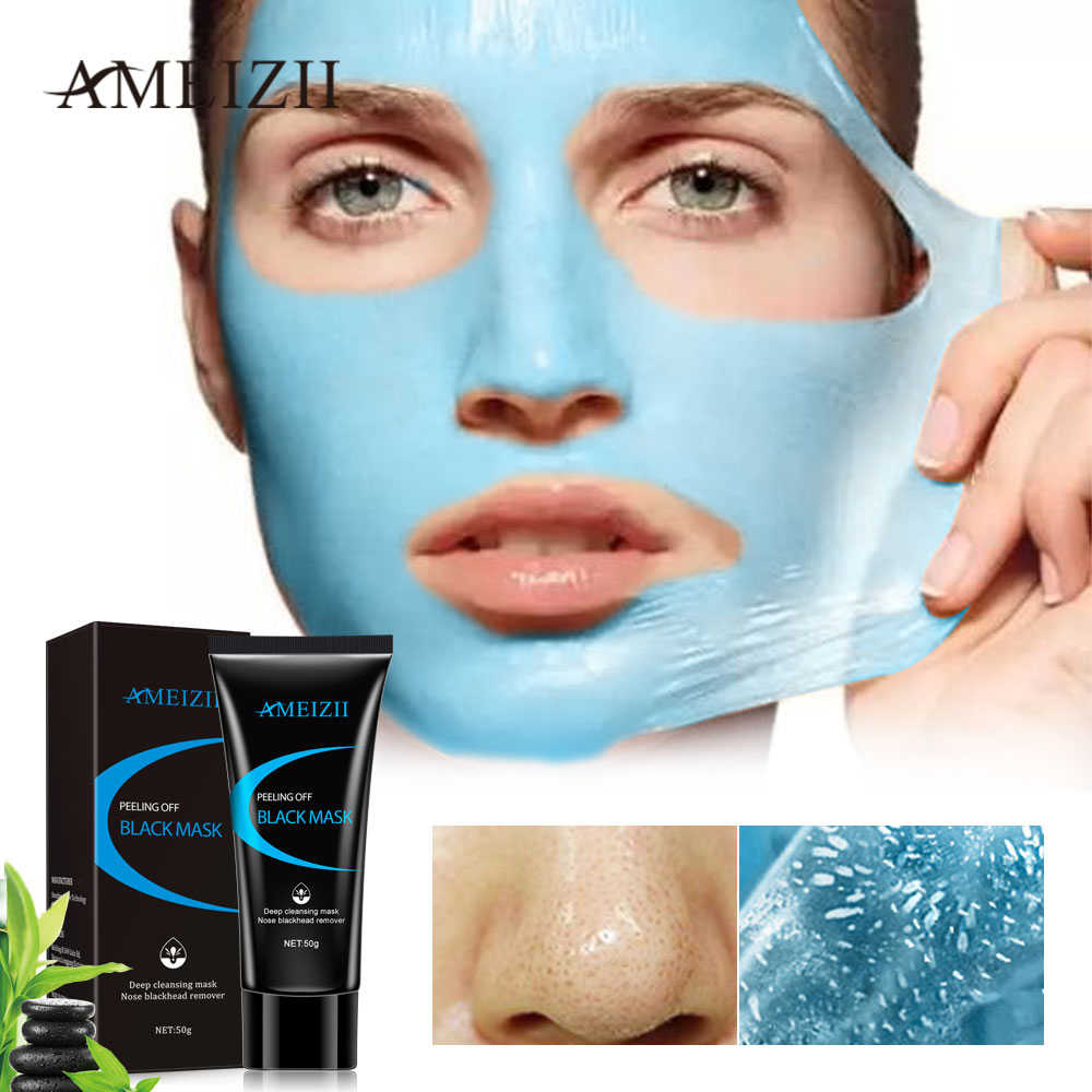 Ameizii Black Mask Peel Off Blue Mud Cleansing Facial Masks For Blackhead Remover Deep Cleaner Anti Acne Treatments Skin Care