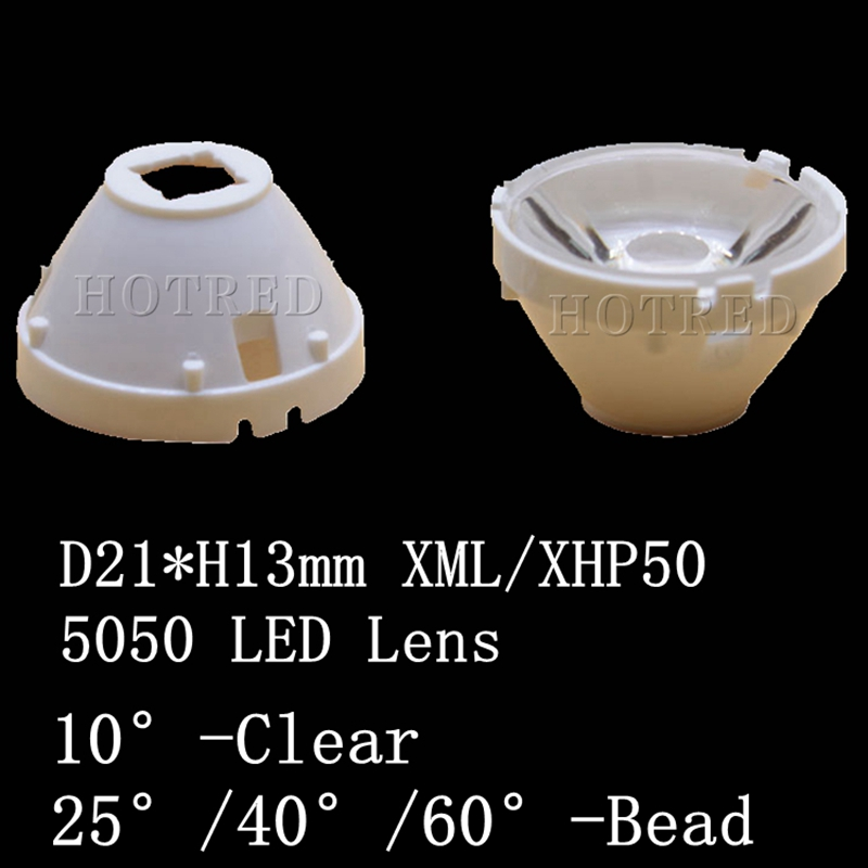1pcs CREE XML LED XML2 LED XHP50 LED 5050 Lens 21mm white holder 10/25/45/60 degree LED LENS/Reflector Collimator sitemap 60 xml